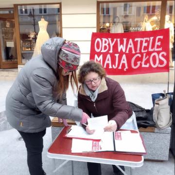 Zbieranie podpisów 13.03 Rzeszów