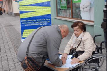 Zbieranie podpisów 7.03. Legnica