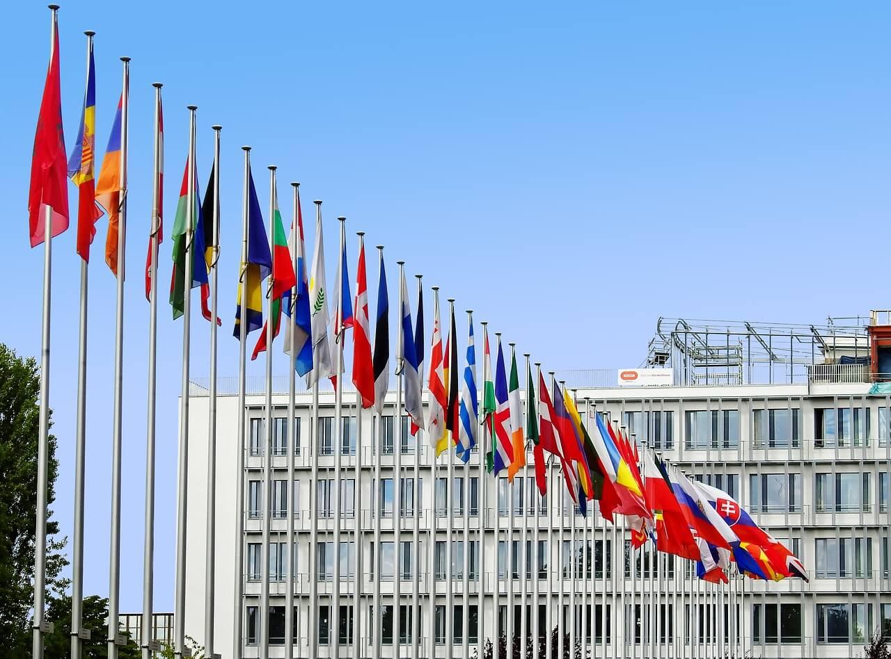 flagi krajów unii europejskiej
