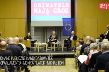 Pierwsze wysłuchanie obywatelskie – Monika Płatek iMichał Boni