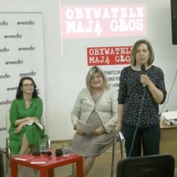Wysłuchanie obywatelskie Kamila Gasiuk-Pihowicz iAnna Grodzka