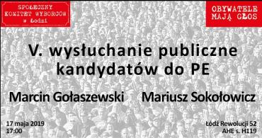 V wysłuchanie obywatelskie Łódź